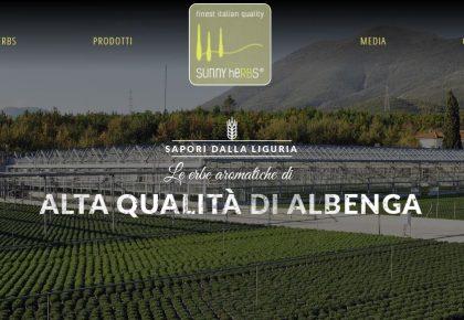 Nuovo sito web per le aromatiche di ALbenga Sunny heRBs di RB Plant