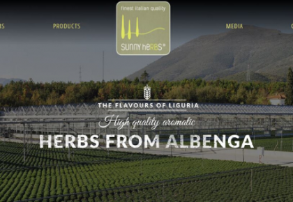 New web site for Sunny heRBs, the aromatic herbs from Albenga