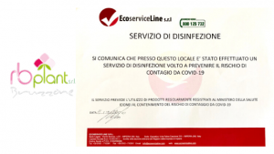 RB Plant Albenga, sanificazione di tutti gli ambienti di lavoro e dei mezzi